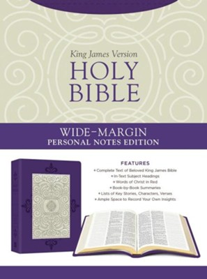 Holy Bible: Wide-Margin Personal Notes Edition [Lavender Plume]:  -