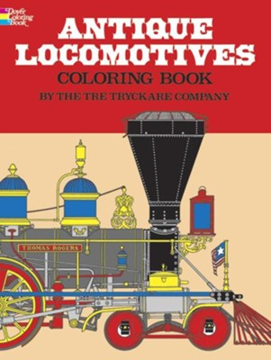 Antique Locomotives Coloring Book  -     By: Tre Tryckare Company
