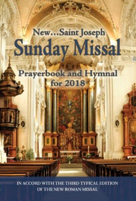 St. Joseph Sunday Missal, Prayerbook & Hymnal for 2018   -