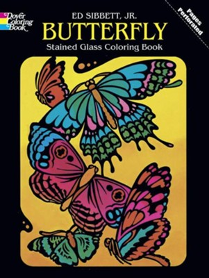 Butterfly Stained Glass Coloring Book  -     By: Ed Sibbett Jr.