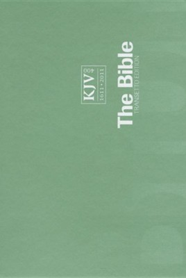 KJV Transetto Text Bible, Softcover, green  -