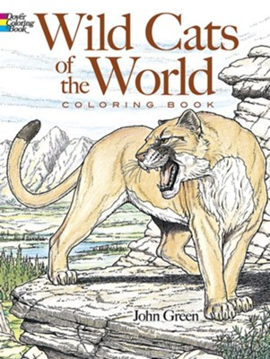 Wild Cats of the World Coloring Book  -     By: John Green
