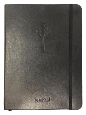 Celtic Cross Essential Journal, Black LeatherLuxe &#174  -