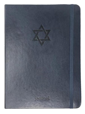 Star of David Essential Journal, Navy LeatherLuxe &#174  -