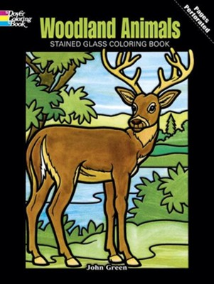 Woodland Animals Stained Glass Coloring Book  -     By: John Green