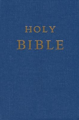 Pew Bible-NRSV, Paper Over Board, Navy  -     By: Oxford University Press
