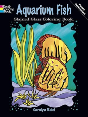 Aquarium Fish Stained Glass Coloring Book  -     By: Carolyn Relei