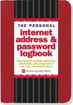 The Personal Internet Address & Password Logbook (Red)  -     By: Peter Pauper Press