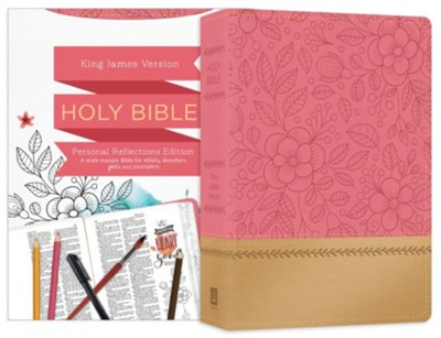 KJV Personal Reflections Bible, imitation leather, Rosegold Bloom  -