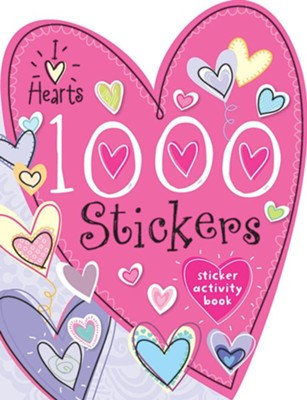 1000 Stickers I Love Hearts  -
