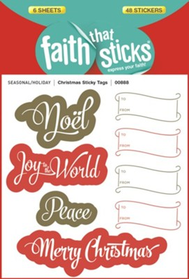 Christmas Sticky Tags  -