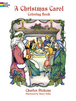 A Christmas Carol Coloring Book  -     By: Charles Dickens     Illustrated By: Marty Noble