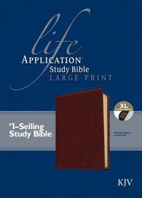 KJV Life Application Study Bible, Large Print Brown Indexed Leatherlike  -     By: Tyndale
