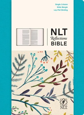 NLT Reflections: The Bible for Journaling, Fabric Hardcover Teal  -