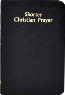 Shorter Christian Prayer, bonded leather black   -