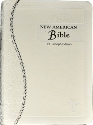 Saint Joseph Medium Size Gift Bible-NABRE, Leather, Cream  -