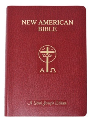 Saint Joseph Giant Print Bible-NABRE New American  Bible Edition, Imitation Leather, Red  -