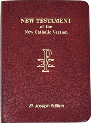 New American New Testament Bible, Bonded Leather, Red  -