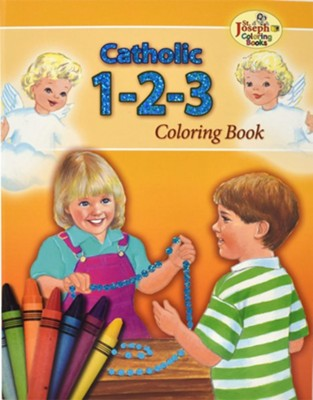 Catholic 1-2-3 Coloring Book    -     By: Emma C. McKean     Illustrated By: Emma C. McKean