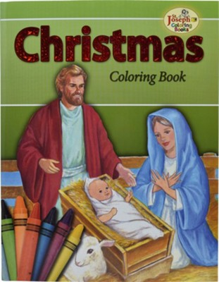 Christmas Coloring Book, Pack of 10    -     By: Catholic Book Publishing Co
