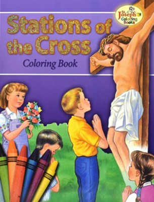 Coloring Book about the Stations of the Cross   -