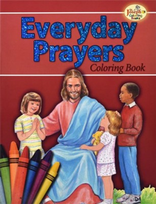 Everyday Prayers Coloring Book   -     By: Catholic Book Publishing Co