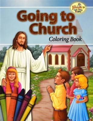 Going to Church Coloring Book  -