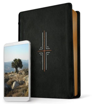 NLT Filament Bible, LeatherLike, Black  -