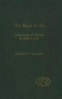 Signs of Sin  -     By: Jonathan Burnside