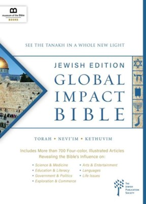 Global Impact Bible, JPS Tanakh Jewish Edition, Hardcover  -