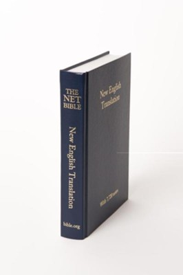 NET Pew Bible, Cloth, Navy   -