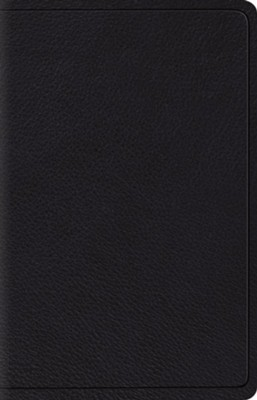 ESV Wide-Margin Reference Bible--top grain leather, black  -