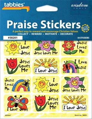 Jesus Loves Me Praise Stickers & Chart   -