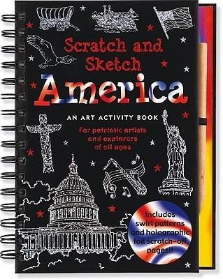 America: An Art Activity Book for Patriotic Artists and Explorers of All Ages [With Wooden Stylus]  -
