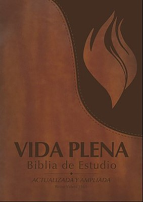 Biblia de Estudio RVR 1960 Vida Plena, Piel Imit., Marron, Indice   (RVR 1960 Full Life Study Bible, Imit. Leather, Brown, Ind.)  -