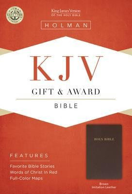 KJV Gift & Award Bible, Brown Imitation Leather  -