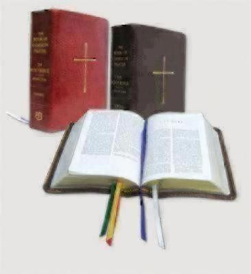 The Book of Common Prayer and the Holy Bible New Revised Standard Version: Red Bonded Leather  -     By: Church Publishing