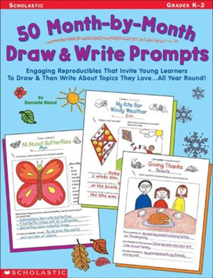 50 Month-By-Month Draw & Write Prompts  -