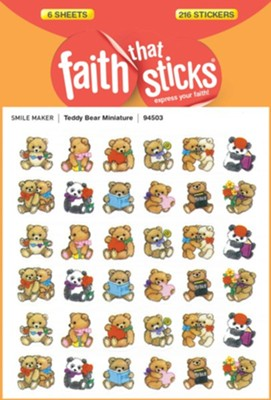 Stickers: Teddy Bear Miniature  -