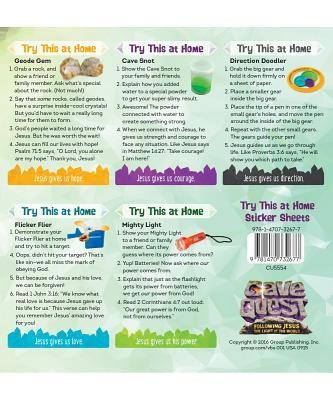 Cave Quest VBS 2016: Try This at Home Sticker Sheets, pack of 10 sheets   -