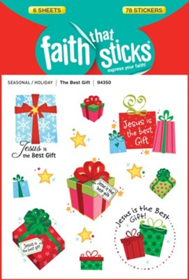 The Best Gift, Christmas Stickers   -     By: Pam Coffin (Illustrator)     Illustrated By: Pam Coffin