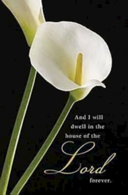 Calla Lilies, Funeral Bulletins, 50   -
