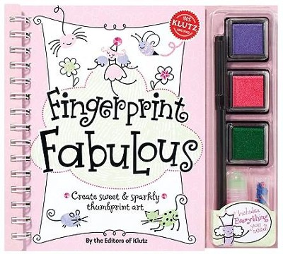 Fingerprint Fabulous: Create Sweet & Sparkly Thumbprint Art [With Sequins and Three Ink Pads and Postcards and Glitter Glue and Marker]  -