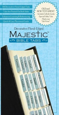 Majestic Floral-Edged Bible Tabs   -