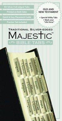 Majestic Traditional Silver-Edged Bible Tabs   -