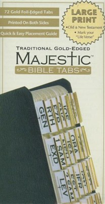 Majestic Bible Tabs - Traditional Gold Large Print    -