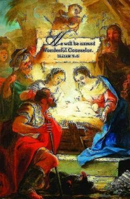 Wonderful Counselor Christmas Nativity Bulletins (Package of 50)  -