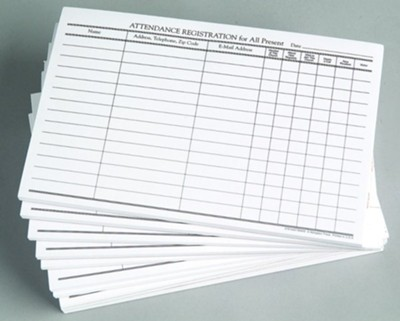 Attendance Registration Pad (Package of 12)  -