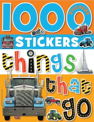 1000 Stickers - Things That Go  -