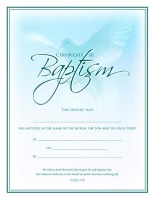 Dove, Baptism Certificates, 6 - Christianbook.com